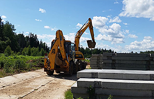 Строительство дорог из сборных железобетонных плит